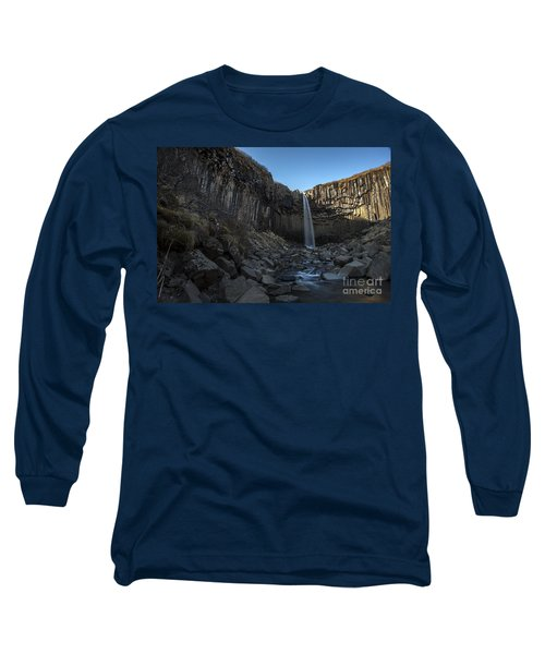 Black Waterfall Long Sleeve T-Shirt