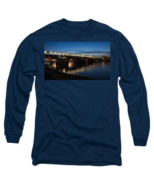 Long Sleeve T-Shirt featuring the photograph Blackfriars Bridge - London U K by Georgia Mizuleva