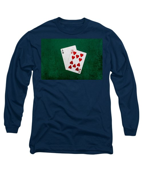 Blackjack Twenty One 1 Long Sleeve T-Shirt by Alexander Senin