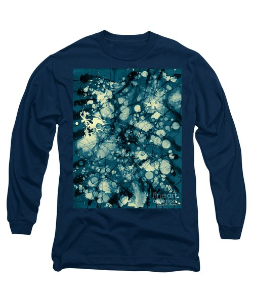 Blue And Yellow Abstraction Long Sleeve T-Shirt