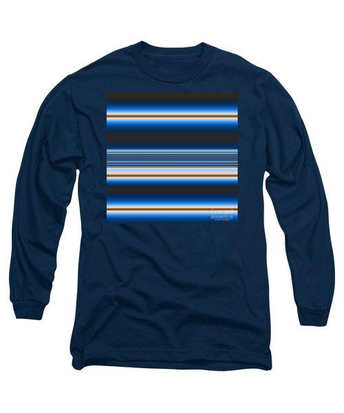 Long Sleeve T-Shirt featuring the digital art Blue Horizons by Joan Hartenstein