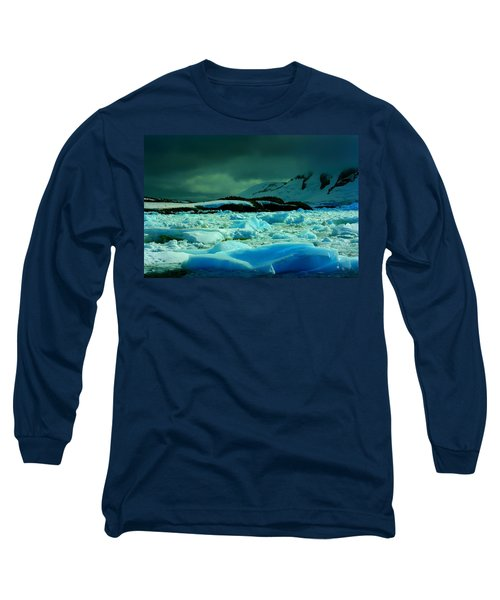 Long Sleeve T-Shirt featuring the photograph Blue Ice Flow by Amanda Stadther