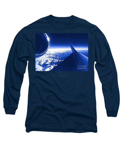 Blue Jet Pop Art Plane Long Sleeve T-Shirt