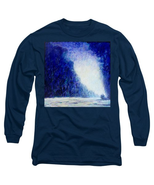 Blue Landscape - Abstract Long Sleeve T-Shirt