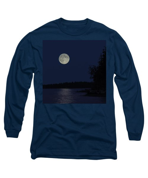 Blue Moon Long Sleeve T-Shirt by Randy Hall