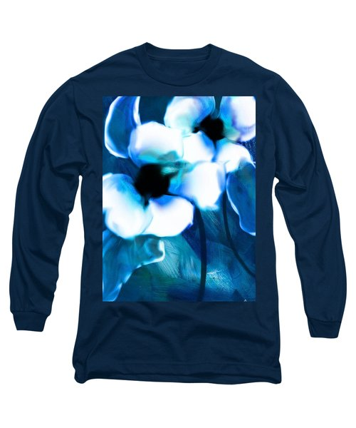 Long Sleeve T-Shirt featuring the digital art Blue Orchids  by Frank Bright