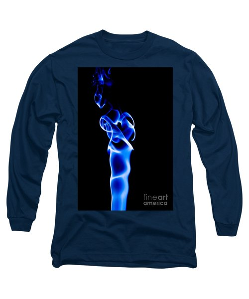 Long Sleeve T-Shirt featuring the photograph Blue Smoke by Yew Kwang