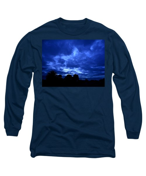 Blue Storm Rising Long Sleeve T-Shirt by Mark Blauhoefer