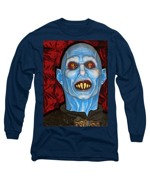 Long Sleeve T-Shirt featuring the photograph Blue Vampire by Joan Reese