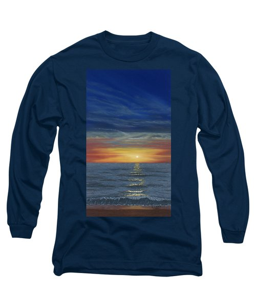 Blueberry Beach Sunset Long Sleeve T-Shirt