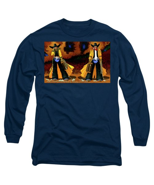 Bonnie And Clyde Long Sleeve T-Shirt by Lance Headlee