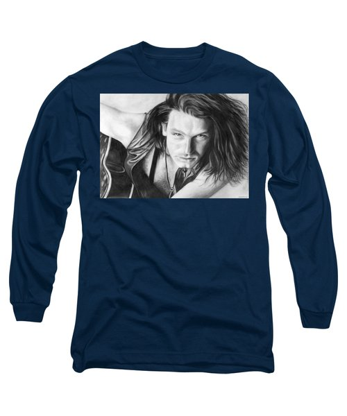 Long Sleeve T-Shirt featuring the drawing Bono by Janice Dunbar