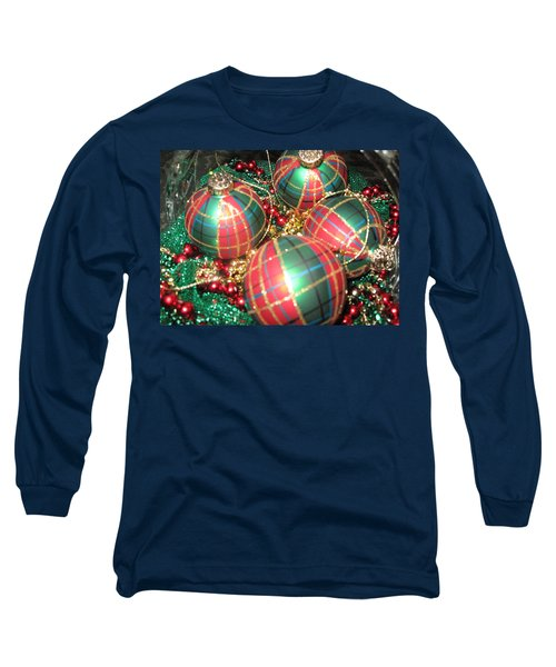 Long Sleeve T-Shirt featuring the photograph Bowl Of Christmas Colors by Barbara McDevitt