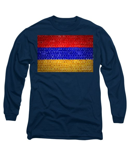 Brick Wall Armenia Long Sleeve T-Shirt by Antony McAulay