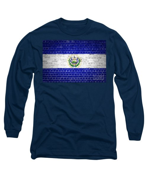 Brick Wall El Salvador Long Sleeve T-Shirt by Antony McAulay