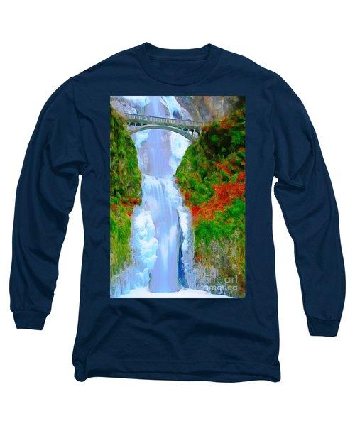 Bridge Over Beautiful Water Long Sleeve T-Shirt by Catherine Lott
