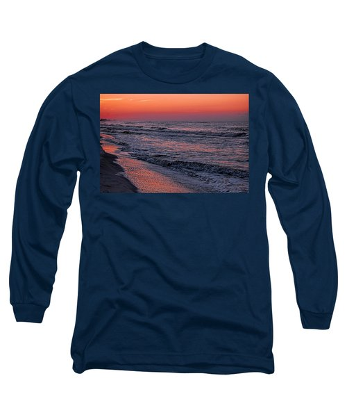 Long Sleeve T-Shirt featuring the digital art Bubbling Surf by Michael Thomas