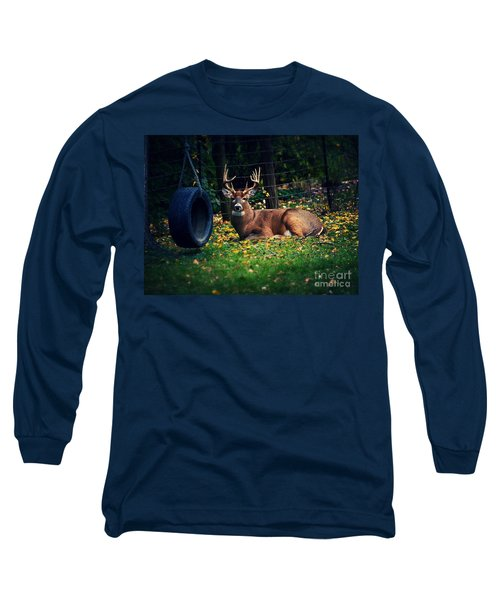 Buck In The Back Yard Long Sleeve T-Shirt