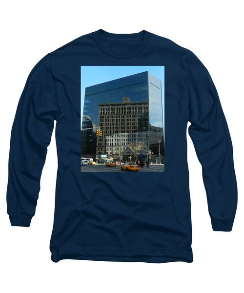 Long Sleeve T-Shirt featuring the photograph Building Reflections Nyc by Emmy Marie Vickers