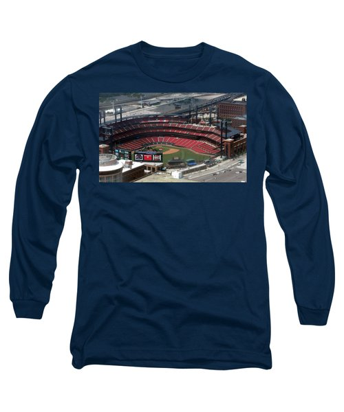 Busch Memorial Stadium Long Sleeve T-Shirt by Thomas Woolworth