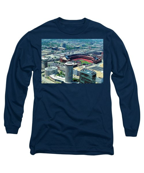 Busch Stadium From The Top Of The Arch Long Sleeve T-Shirt