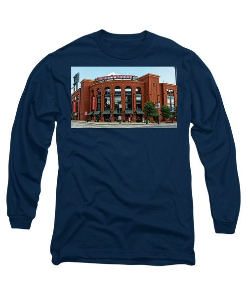 Busch Stadium Home Of The St Louis Cardinals Long Sleeve T-Shirt by Greg Kluempers