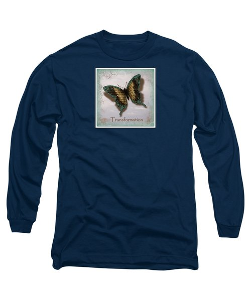 Butterfly Of Transformation Long Sleeve T-Shirt by Bobbee Rickard
