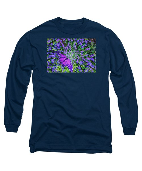 Long Sleeve T-Shirt featuring the digital art Butterfly.1 by Mariarosa Rockefeller
