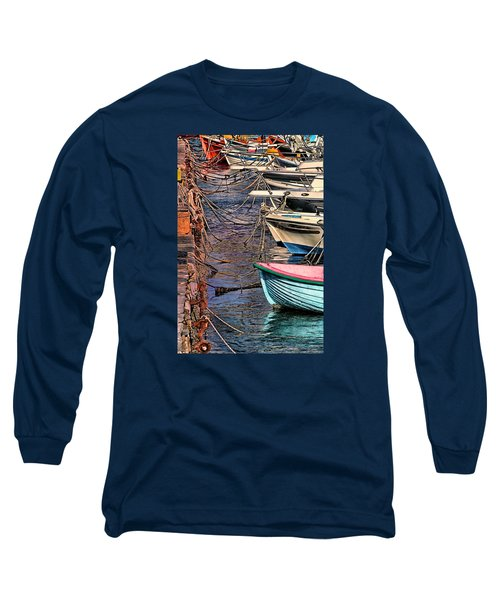 By A Nose Mykonos Greece Long Sleeve T-Shirt by Tom Prendergast