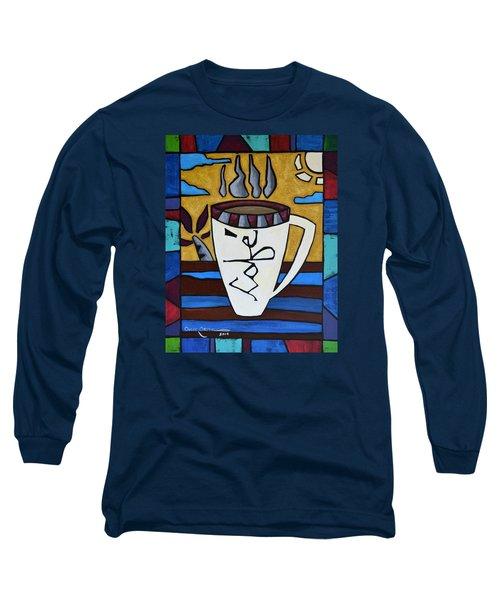Cafe Resto Long Sleeve T-Shirt by Oscar Ortiz