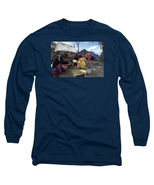 Long Sleeve T-Shirt featuring the photograph Camping In Iraq by Travel Pics