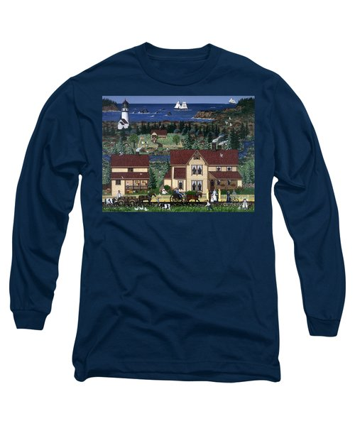 Long Sleeve T-Shirt featuring the painting Cape Blanco by Jennifer Lake