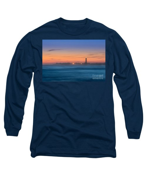 Cape May Lighthouse Sunset Long Sleeve T-Shirt