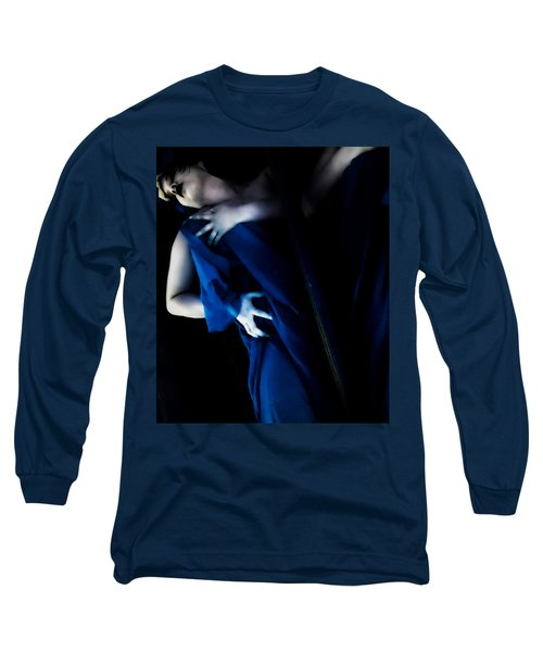 Carnal Blue Long Sleeve T-Shirt by Jessica Shelton