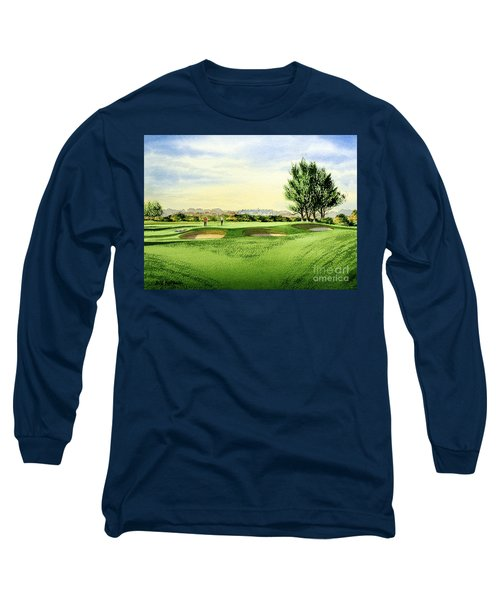 Carnoustie Golf Course 13th Green Long Sleeve T-Shirt by Bill Holkham