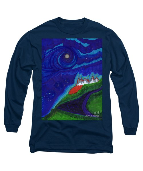 Castle On The Cliff By Jrr Long Sleeve T-Shirt