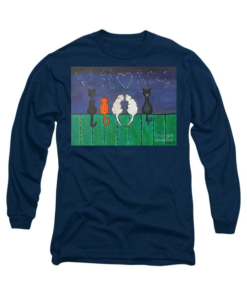 Long Sleeve T-Shirt featuring the painting Cat Tails by Ella Kaye Dickey
