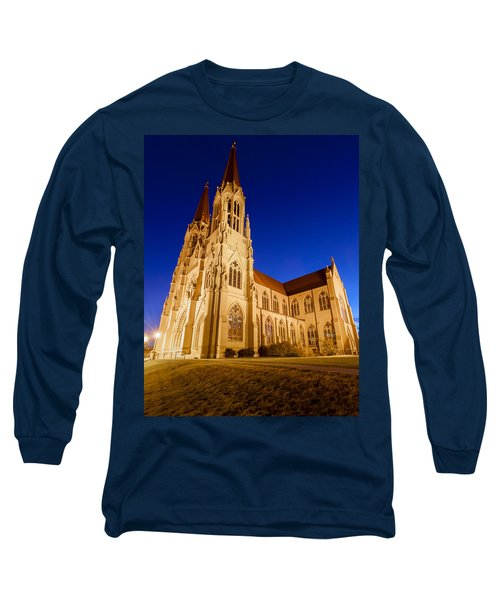 Morning At The Cathedral Of St Helena Long Sleeve T-Shirt by Fran Riley