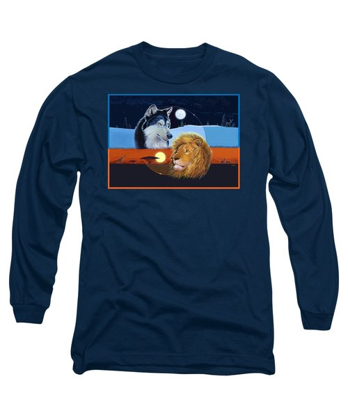 Long Sleeve T-Shirt featuring the mixed media Celestial Kings by J L Meadows