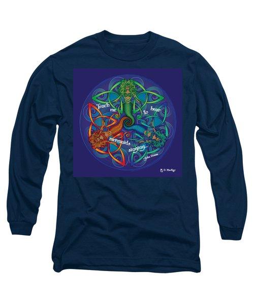 Celtic Mermaid Mandala Long Sleeve T-Shirt