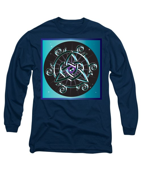 Celtic Triquetra Heart Long Sleeve T-Shirt by Ireland Calling
