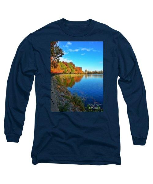 Central Park Autumn Landscape Long Sleeve T-Shirt