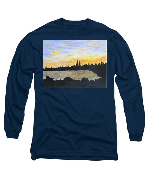 Central Park In Newyork Long Sleeve T-Shirt by Sonali Gangane