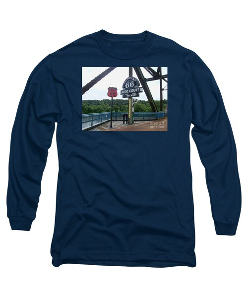 Chain Of Rocks Bridge Long Sleeve T-Shirt by Kelly Awad