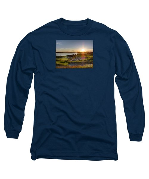 Chambers Bay Sun Flare - 2015 U.s. Open  Long Sleeve T-Shirt by Chris Anderson