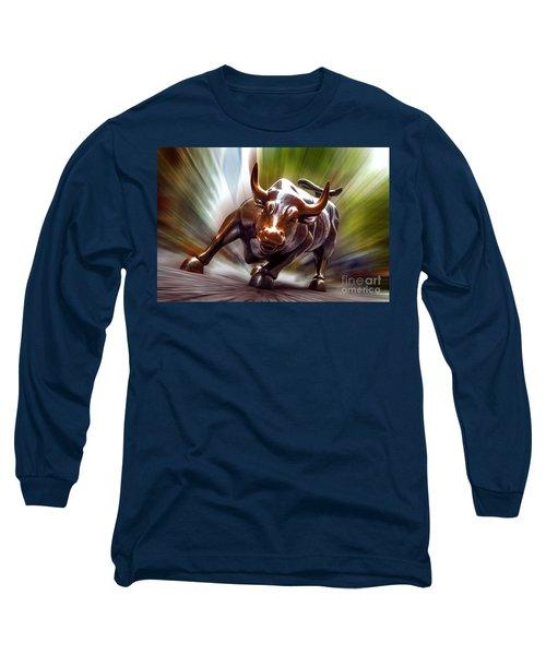 Charging Bull Long Sleeve T-Shirt by Az Jackson