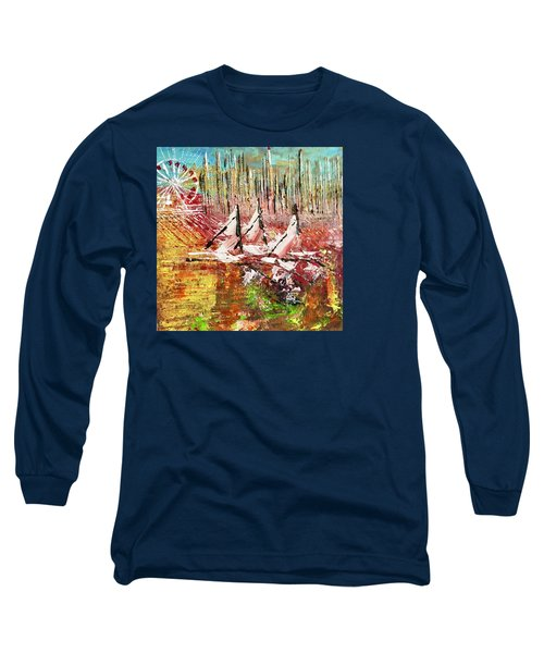 Chicago At It's Best  Long Sleeve T-Shirt by George Riney