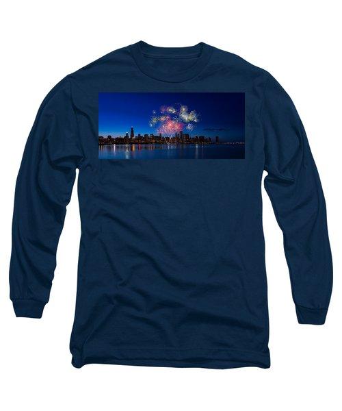 Chicago Lakefront Fireworks Long Sleeve T-Shirt