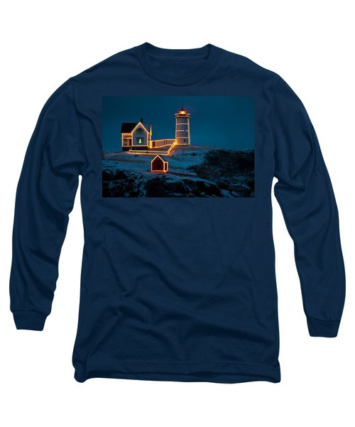 Christmas At Nubble Light Long Sleeve T-Shirt