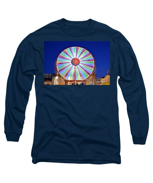 Long Sleeve T-Shirt featuring the photograph Christmas Ferris Wheel by George Atsametakis